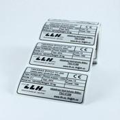 Výrobní štítek z tiskárny TC-200
