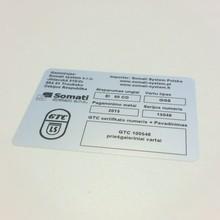Odolný výrobní štítek 80x60 mm – cena 2,00 Kč