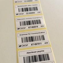 Papírový štítek 53x30 mm – cena 0,23 Kč
