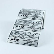 Výrobní štítky 70x40 mm – cena 1,40 Kč