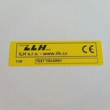 Plastový žlutý štítek 70x20 mm – cena 1,60 Kč