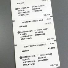 Plastové visačky 100x60 mm – cena 2,90 Kč