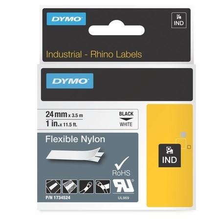 Páska Dymo 1734524 bílá/černý tisk, 24 mm, flexibilní nylonová