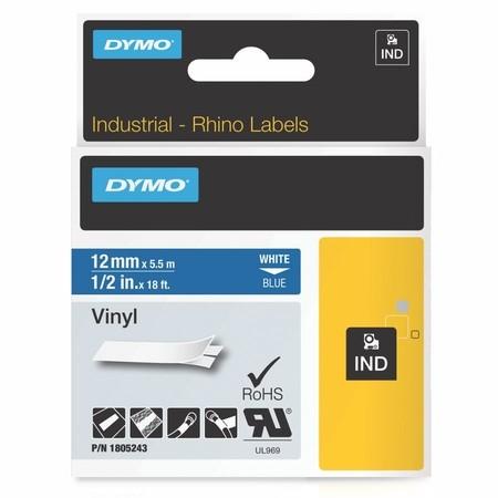 Páska Dymo 1805243 modrá/bílý tisk, 12 mm, vinylová