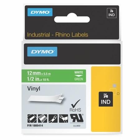 Páska Dymo 1805414 zelená/bílý tisk, 12 mm, vinylová