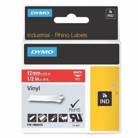 Páska Dymo 1805416 červená/bílý tisk, 12 mm, vinylová