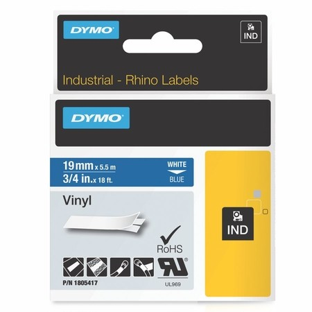 Páska Dymo 1805417 modrá/bílý tisk, 19 mm, vinylová