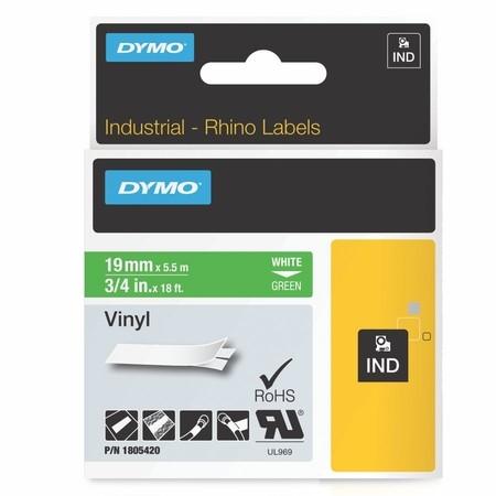 Páska Dymo 1805420 zelená/bílý tisk, 19 mm, vinylová