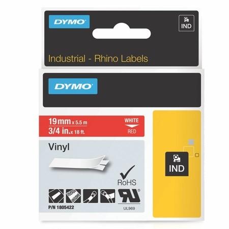 Páska Dymo 1805422 červená/bílý tisk, 19 mm, vinylová