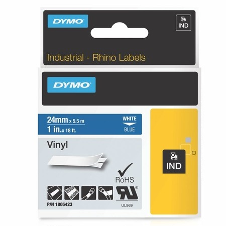 Páska Dymo 1805423 modrá/bílý tisk, 24 mm, vinylová