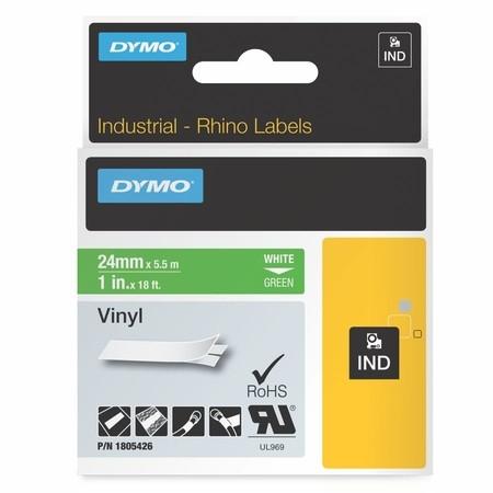 Páska Dymo 1805426 zelená/bílý tisk, 24 mm, vinylová