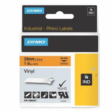 Páska Dymo 1805427 oranžová/černý tisk, 24 mm, vinylová
