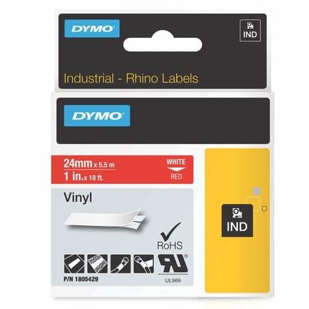 Páska Dymo 1805429 červená/bílý tisk, 24 mm, vinylová