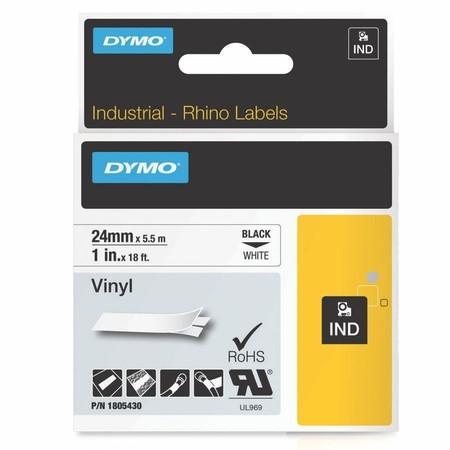 Páska Dymo 1805430 bílá/černý tisk, 24 mm, vinylová