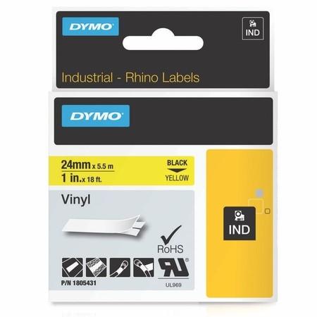 Páska Dymo 1805431 žlutá/černý tisk, 24 mm, vinylová