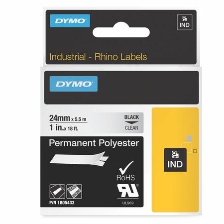Páska Dymo 1805433 průhledná/černý tisk, 24 mm, silné lepidlo