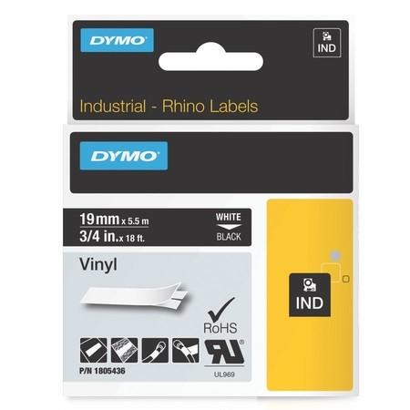 Páska Dymo 1805436 černá/bílý tisk, 19 mm, vinylová