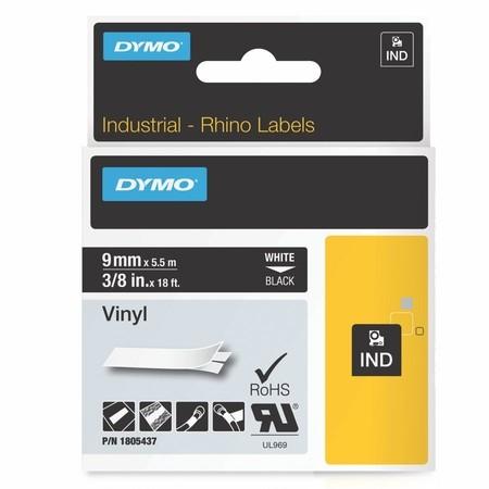 Páska Dymo 1805437 černá/bílý tisk, 9 mm, vinylová
