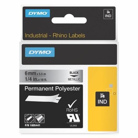 Páska Dymo 1805441 stříbrná/černý tisk, 6 mm, silné lepidlo