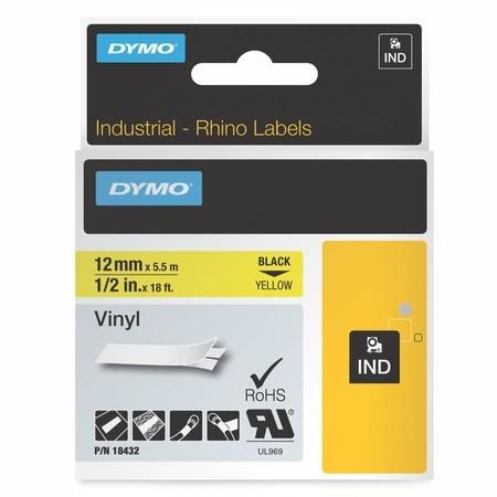 Páska Dymo 18432 žlutá/černý tisk, 12 mm, vinylová