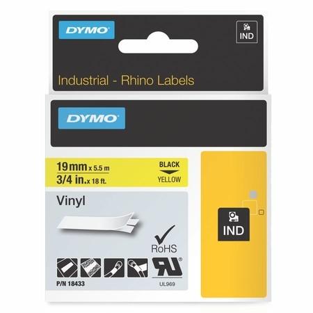 Páska Dymo 18433 žlutá/černý tisk, 19 mm, vinylová
