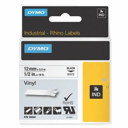 Páska Dymo 18444 bílá/černý tisk, 12 mm, vinylová
