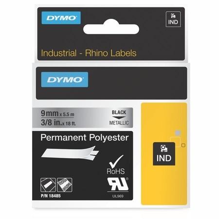 Páska Dymo 18485 stříbrná/černý tisk, 9 mm, silné lepidlo