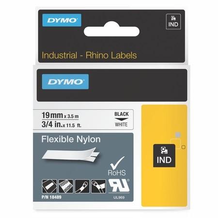 Páska Dymo 18489 bílá/černý tisk, 19 mm, flexibilní nylonová