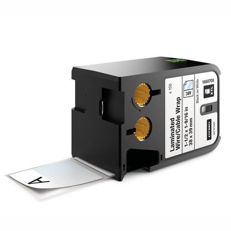 Štítky Dymo XTL 1868708 bílé/černý tisk, 38x39 mm, obmotávací