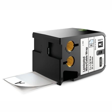 Štítky Dymo XTL 1868711 bílé/černý tisk, 51x39 mm, obmotávací