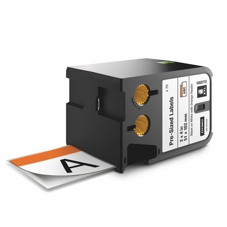 Bezpečnostní štítky Dymo XTL 1868713 bílá/oranžová, 51x102 mm