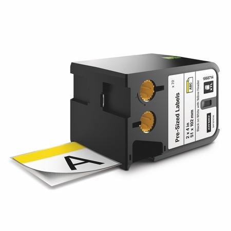 Bezpečnostní štítky Dymo XTL 1868714 bílá/žlutá, 51x102 mm