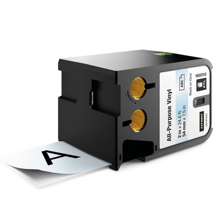 Páska Dymo XTL 1868745 průhledná/černý tisk, 54 mm, vinylová