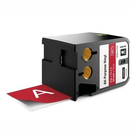 Páska Dymo XTL 1868765 červená/bílý tisk, 54 mm, vinylová