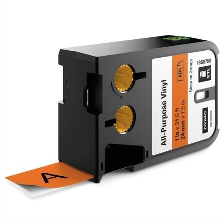 Páska Dymo XTL 1868768 oranžová/černý tisk, 24 mm, vinylová