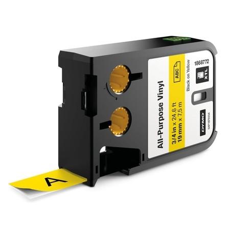 Páska Dymo XTL 1868772 žlutá/černý tisk, 19 mm, vinylová