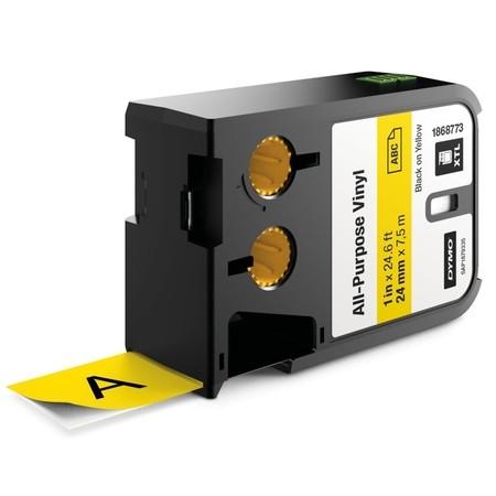 Páska Dymo XTL 1868773 žlutá/černý tisk, 24 mm, vinylová
