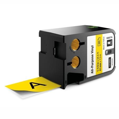 Páska Dymo XTL 1868774 žlutá/černý tisk, 41 mm, vinylová