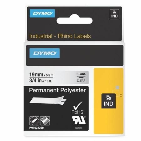 Páska Dymo 622290 průhledná/černý tisk, 19 mm, silné lepidlo