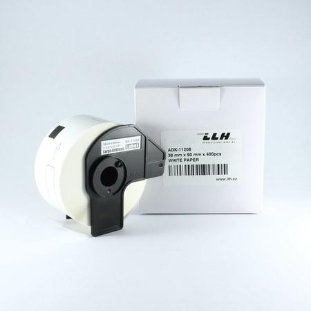 Papírové štítky ADK11208, 38x90 mm, 400 ks