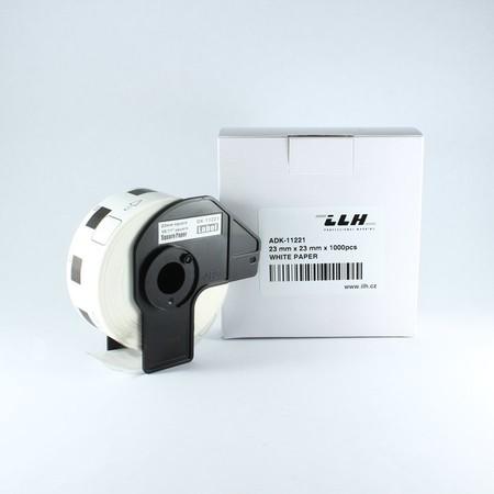 Papírové štítky ADK11221, 23x23 mm, 1000 ks