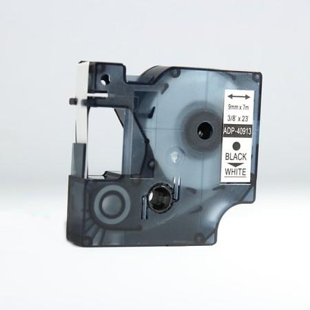 Páska ADP-40913 bílá/černý tisk, 9 mm