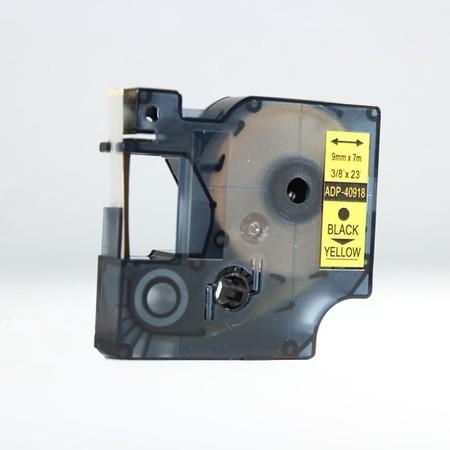 Páska ADP-40918 žlutá/černý tisk, 9 mm