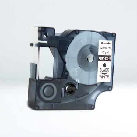 Páska ADP-45013 bílá/černý tisk, 12 mm