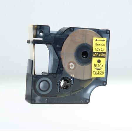 Páska ADP-45018 žlutá/černý tisk, 12 mm