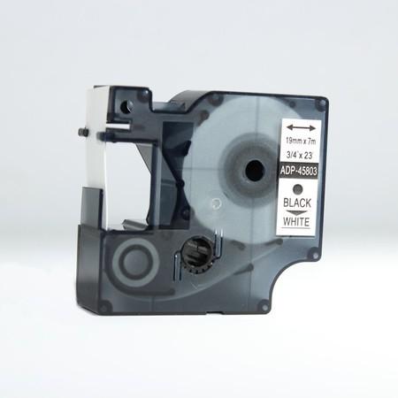 Páska ADP-45803 bílá/černý tisk, 19 mm