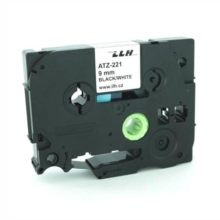 Páska ATZ-221 bílá/černý tisk, 9 mm
