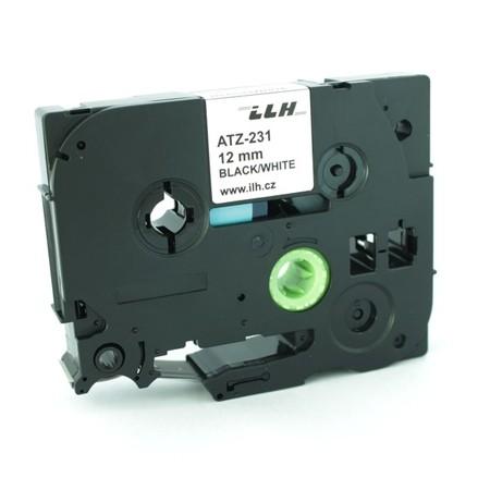 Páska ATZ-231 bílá/černý tisk, 12 mm