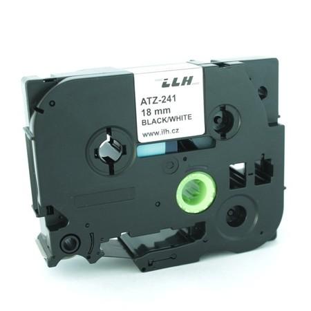 Páska ATZ-241 bílá/černý tisk, 18 mm