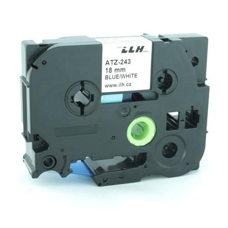 Páska ATZ-243 bílá/modrý tisk, 18 mm